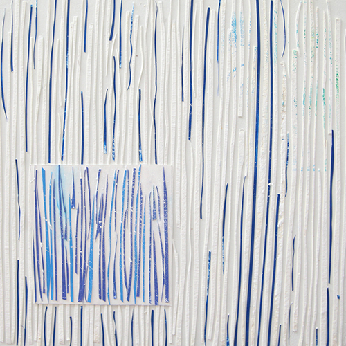 Leigh Pawling Studio Sublimity 8 Vertical Lines in Blue