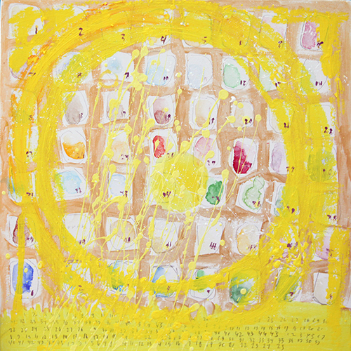 Leigh Pawling Studio Sublimity 23 Yellow Circle