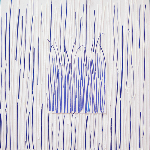 Leigh Pawling Studio Sublimity 24 Vertical Lines in Blue 2